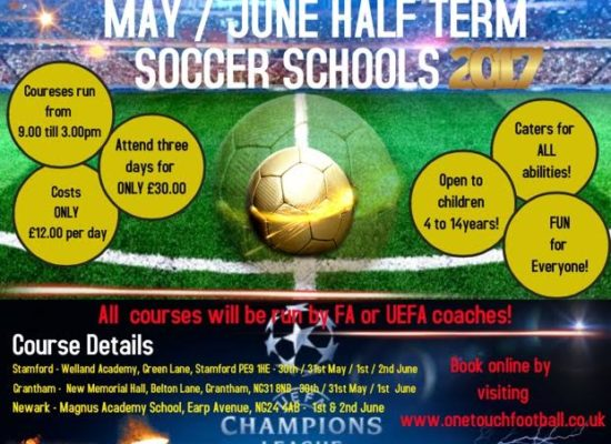 May / June Half-Term Soccer Schools