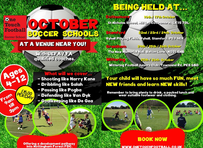 October Soccer Schools 2018