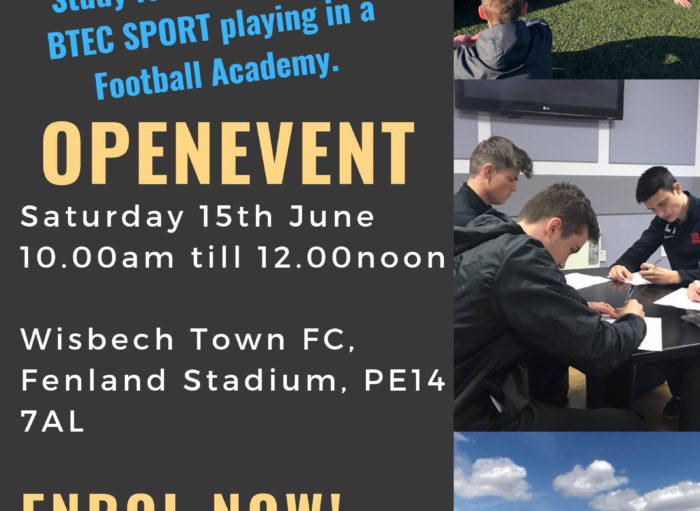 16+ Academy launch at Wisbech Town FC