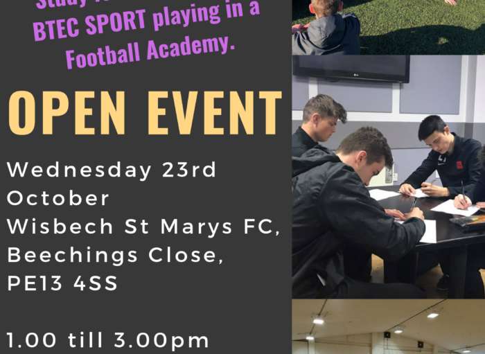 16+ Launched at Wisbech St Marys FC
