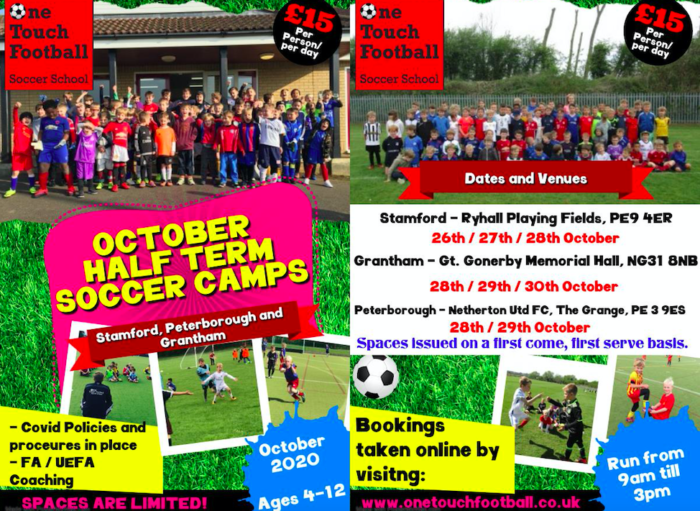 October Half Term Soccer School