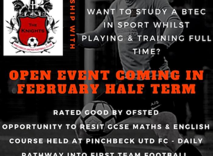 Football Academy & Education Scholarship Launch at Pinchbeck Utd FC