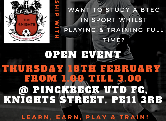 February Open Event @ Pinchbeck Utd FC