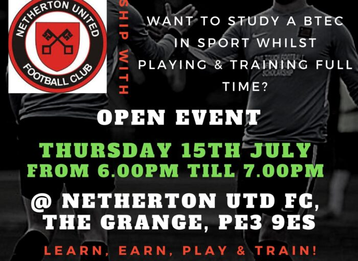 FINAL OPPORTUNITY TO JOIN OUR 16+ ACADEMY